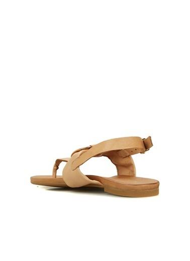 Divarese Divarese 5025218 Parmak Detaylı Kadın Sandalet Vizon